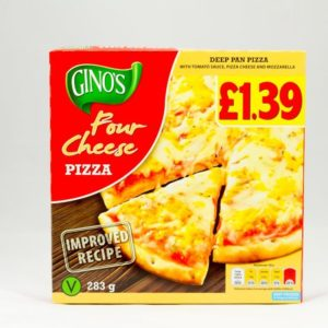Ginos Four Cheese Pizza
