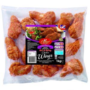 Ceekays Chef's Bone-in Hot'n'Spicy Breaded Chicken Wings