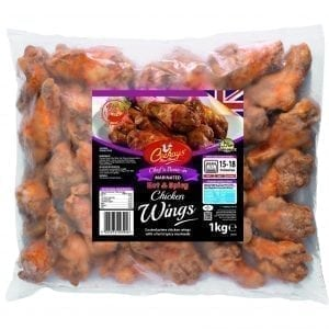 Ceekays Chef's Bone-in Hot'n'Spicy Marinated Chicken Wings