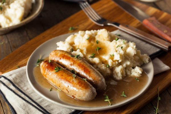 Halal Recipe for Traditional English Bangers 'n' Mash